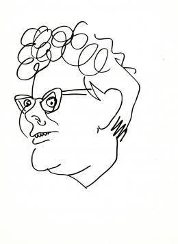 Rózsahegyi, György - Portrait of Klára Fehér Writer, Journalist (1970s)