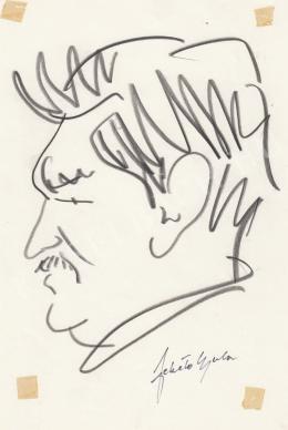 Rózsahegyi, György - Portrait of Gyula Fekete Writer