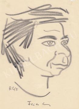 Rózsahegyi György - Fejes Endre író portréja