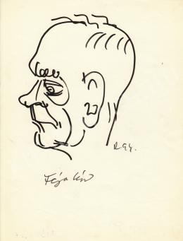 Rózsahegyi György - Féja Géza író portréja
