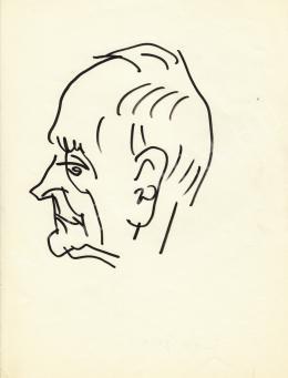 Rózsahegyi, György - Portrait of Géza Féja Writer