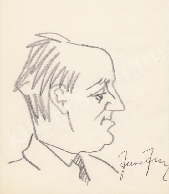 For sale  Rózsahegyi, György - Portrait of József Fodor Poet, Writer, Journalist 's painting