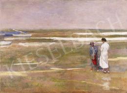 Ismeretlen festő - Tengerparton, 1930-as évek