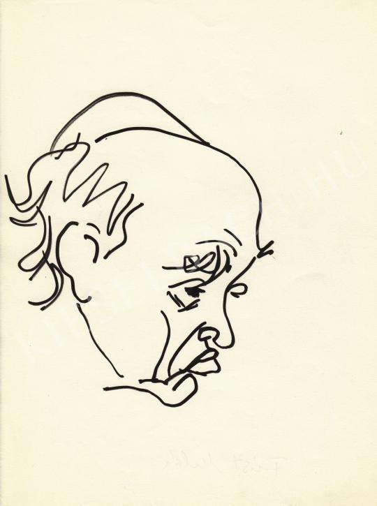 For sale  Rózsahegyi, György - Portrait of Milán Füst Writer 's painting