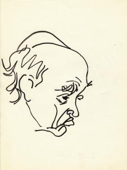Rózsahegyi György - Füst Milán író portréja