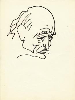 Rózsahegyi, György - Portrait of Milán Füst Writer