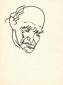 Rózsahegyi György - Füst Milán író portréja (1965 körül)