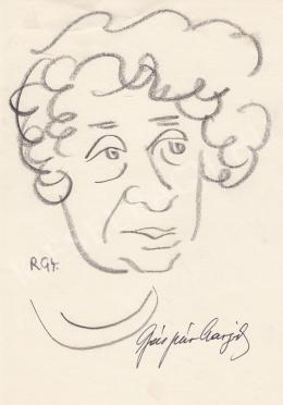 Rózsahegyi György - Gáspár Margit író portréja