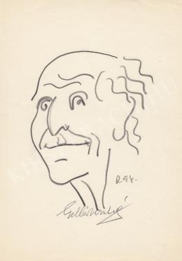 Rózsahegyi György - Gellért Oszkár író portréja (1970-es évek)