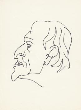 Rózsahegyi György - Gellért Oszkár író portréja