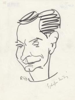 Rózsahegyi, György - Portrait of Miklós Gyárfás Writer, Poet