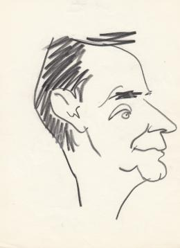 Rózsahegyi György - Gyárfás Miklós író, költő portréja