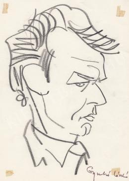 Rózsahegyi, György - Portrait of László Gyurkó Writer