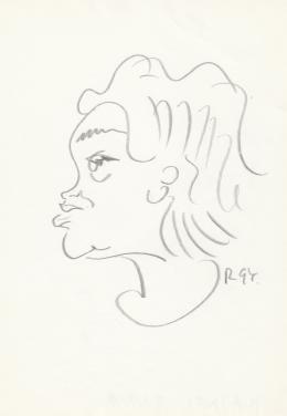Rózsahegyi György - Hajnal Anna költőnő portréja