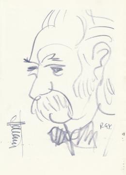 Rózsahegyi, György - Portrait of Dezső Hámori Writer