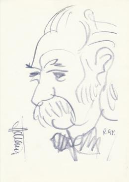Rózsahegyi György - Hámori Dezső író portréja