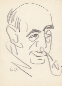 Rózsahegyi György - Illés Béla író portréja