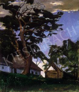 Szőnyi István - Tájkép égrerajzolódó fával (1917)