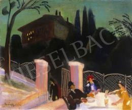Márffy Ödön - Kertvendéglőben (1930-as évek eleje)