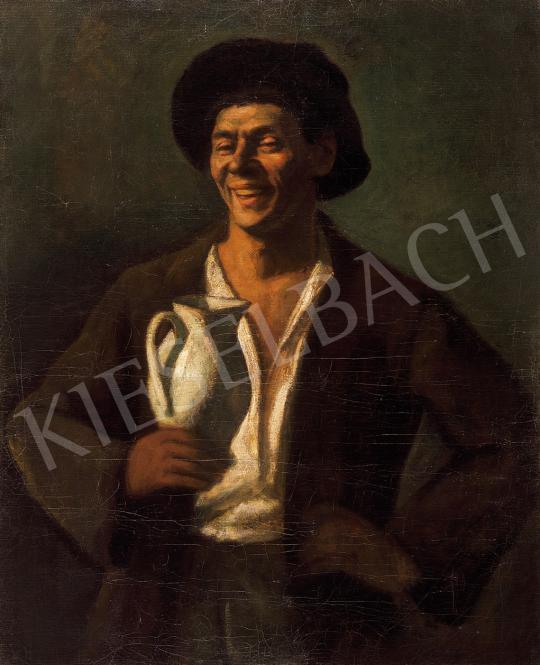 Czigány Dezső - Legény  korsóval (Önarckép)   10. Auction aukció / 32 tétel