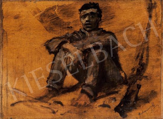 Mednyánszky László - Pihenő katona   10. Auction aukció / 33 tétel