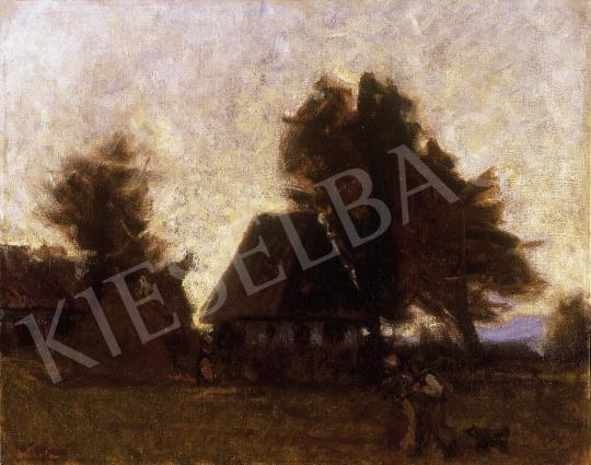 Mikola András - Nagybányai alkonyat   10. Auction aukció / 37 tétel