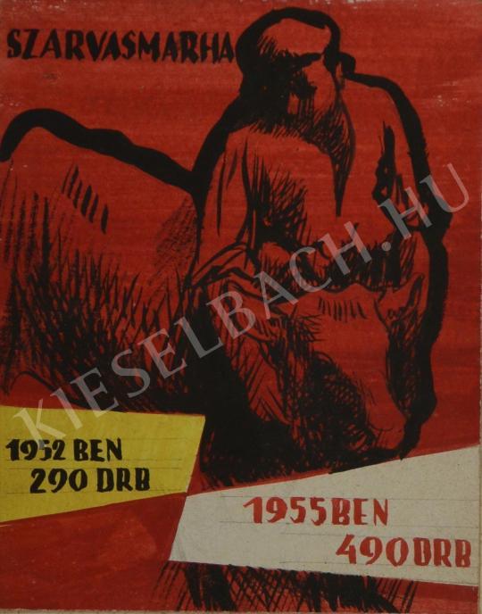 Eladó Ősz Dénes - Szarvasmarha (plakátterv) festménye