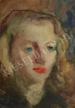 Ősz Dénes - Barna hajú, kék szemű lány