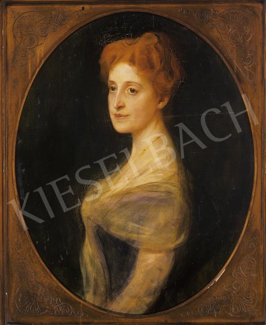 László Fülöp - Hölgy arcképe (Mária Terézia hercegnő?) | 10. Auction aukció / 77 tétel