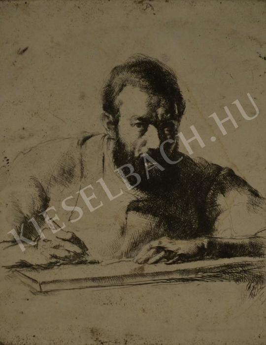 Eladó  Varga Nándor Lajos - Önarckép festménye