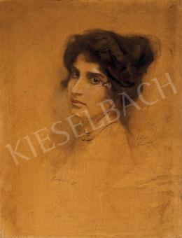 László Fülöp - Fekete hajú nő