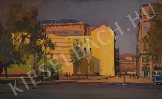 Eladó Ősz Dénes - A Vörösmarty tér (A Vigadó hátoldala) festménye