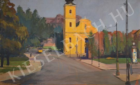 For sale Ősz, Dénes - The Church in Tabán 's painting