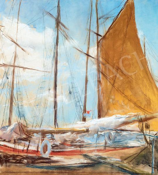 Fried Pál - Kikötő (Vitorlások) | 44. Aukció aukció / 2 tétel