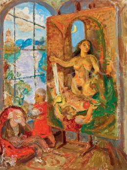Szabó Vladimir - Műteremben (Álmodozás)