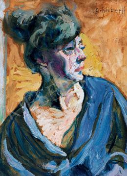 Scheiber Hugó - Fiatal hölgy arcképe (1920 körül)