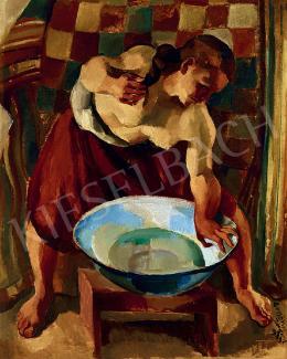 Zsögödi Nagy Imre - Mosakodó lány (1935)