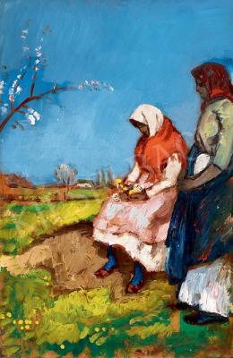 Iványi Grünwald, Béla - Girls in the Fields