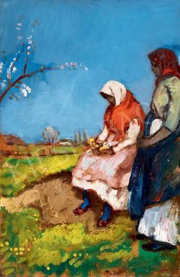 Iványi Grünwald Béla - Lányok a mezőn