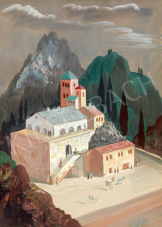 Molnár C. Pál - Itáliai táj | 44. Aukció aukció / 36 tétel