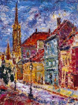 Vén Emil - Utcarészlet a Mátyás-templommal,   10. Auction aukció / 138 tétel