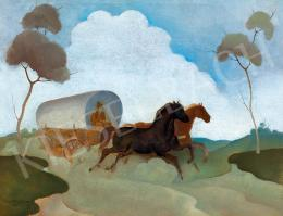 Basilides, Barna - Galloping with the Cart, 1943 (1943)