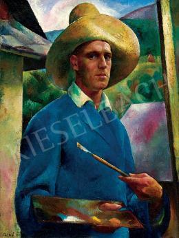 Patkó, Károly - Self-Portrait with a Hat, 1925