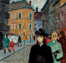 Czene, Béla jr. - Steet Scene with Young Girl