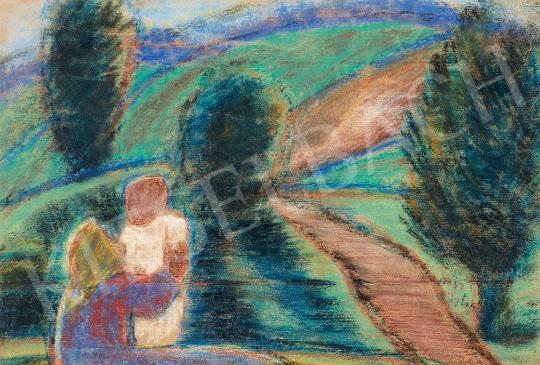 Nagy István - Anya gyermekével | 44. Aukció aukció / 81 tétel