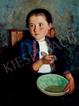 Glatz, Oszkár - Girl Eating Soup, 1935