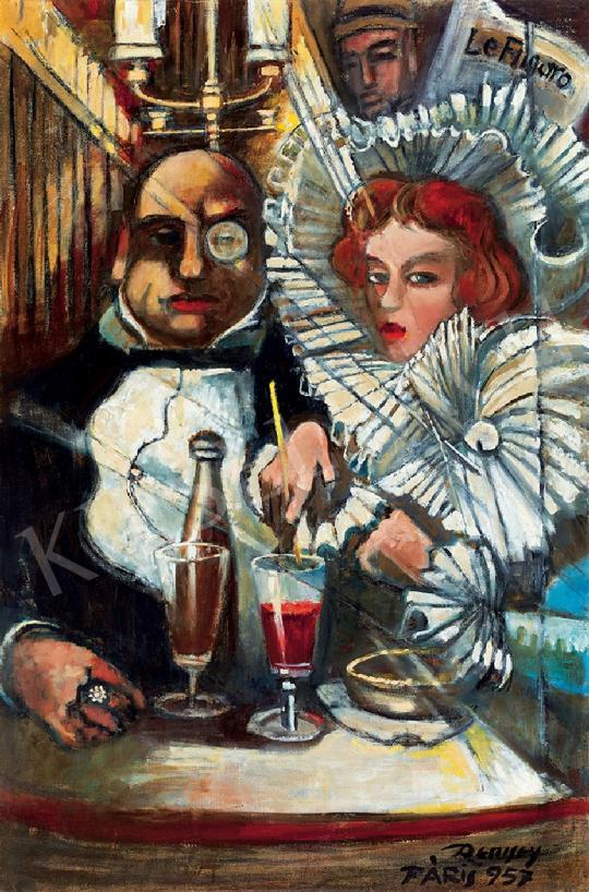 Remsey Jenő György - Párizsi kávéházban | 44. Aukció aukció / 86 tétel