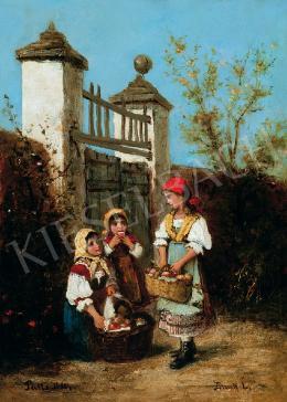 Bruck, Lajos - Girls in the Garden