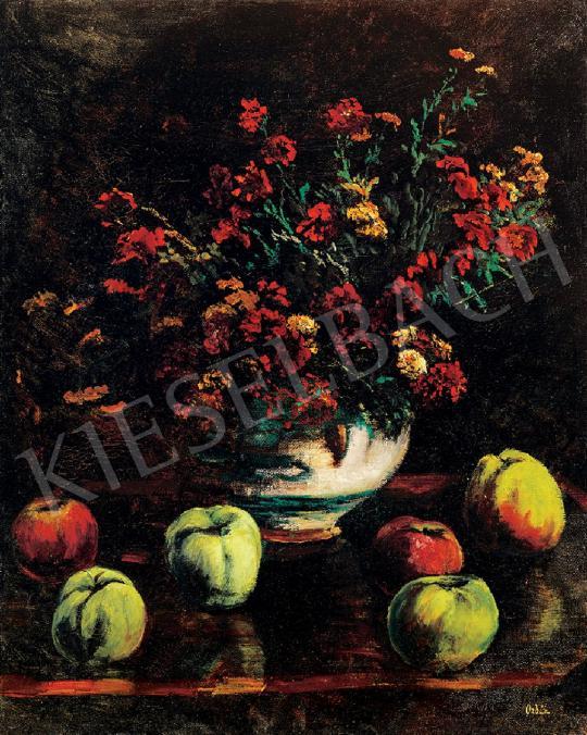 Orbán Dezső - Virágcsendélet almákkal,   44. Aukció aukció / 107 tétel