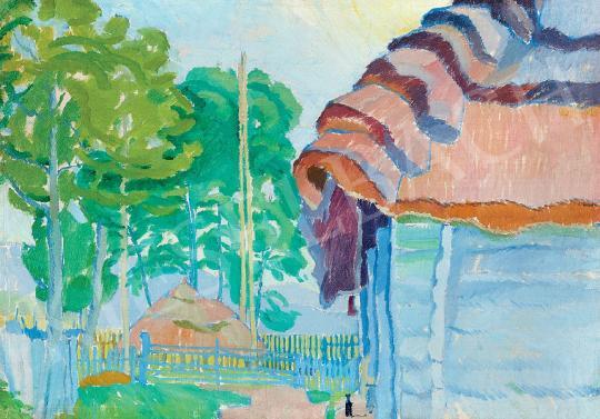 Ismeretlen festő - Udvarban | 44. Aukció aukció / 128 tétel